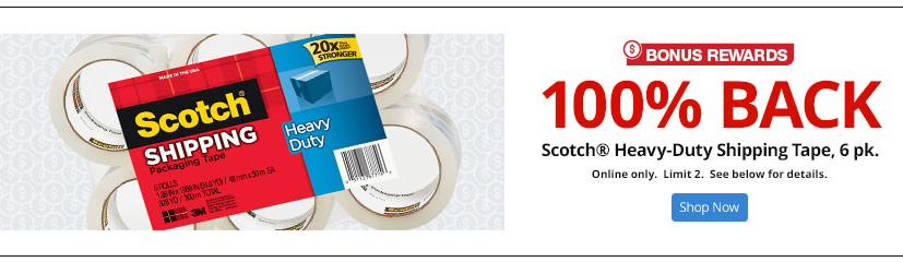 FREE 6-pack of Scotch Heavy-Duty Shipping Tape