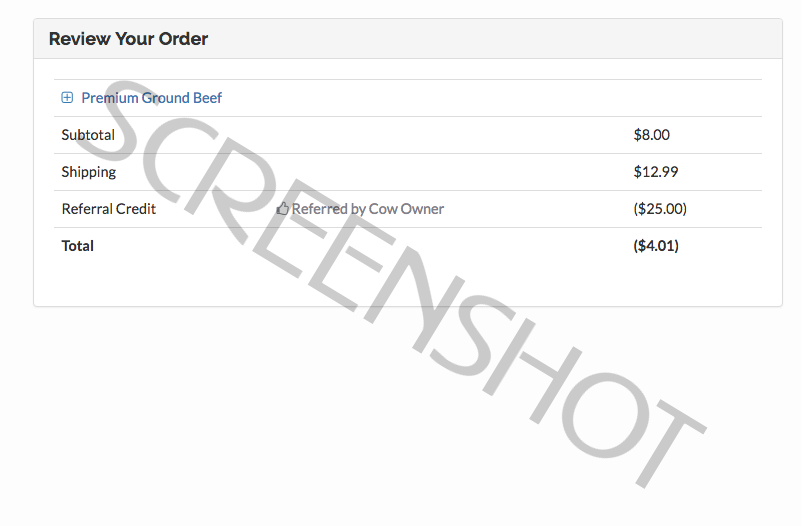 FREE Order using FREE $25 Crowd Cow Credit