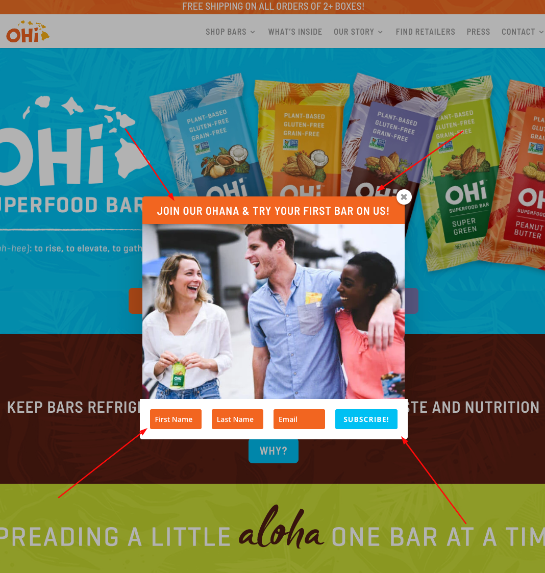 FREE OHI Superfood Single Bar Offer