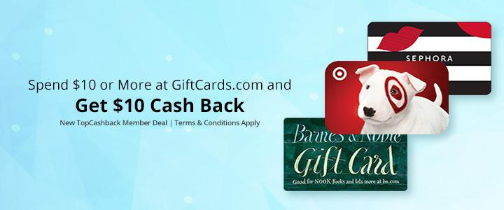 FREE $10 Gift Card after Cashback