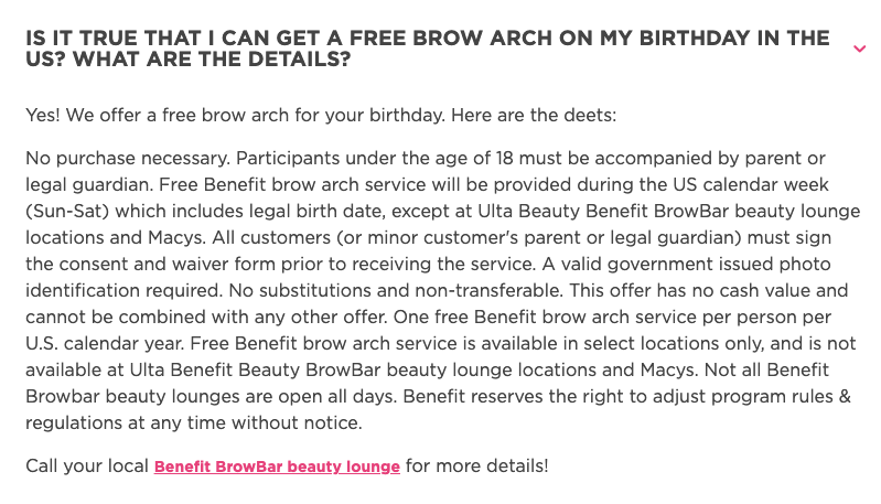 ]FREE Brow Arch Service on Your Birthday