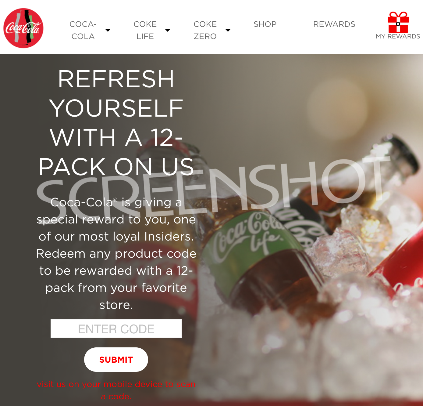 Possible FREE Coca-Cola 12 Pack Coupon for Coke Insiders with Code
