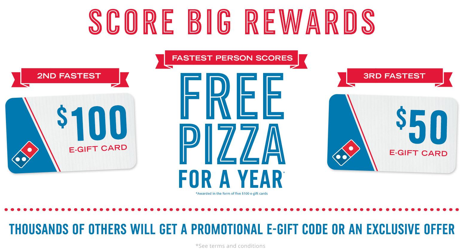 FREE Domino's Pizza Gift Card