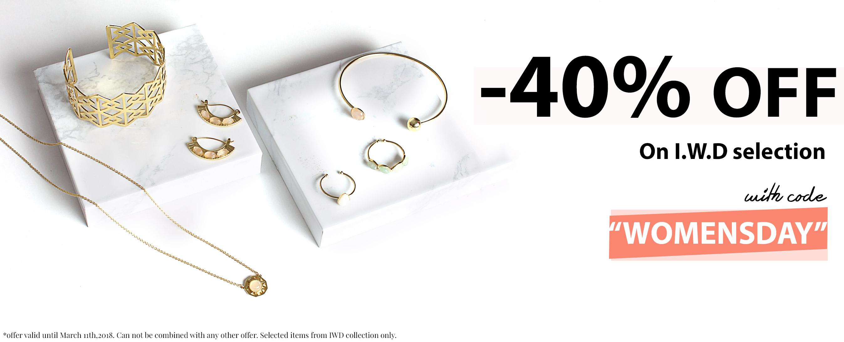 40% Off International Women's Day Jewelry