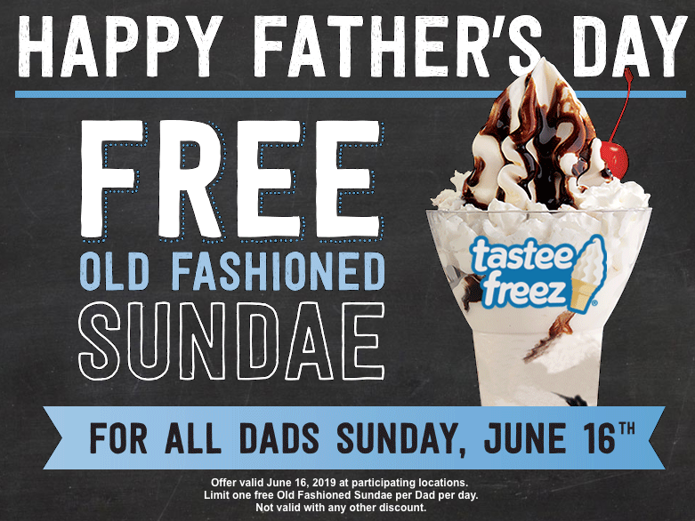 FREE Old Fashioned Sundae for Dads at Wienerschnitzel on June 16th