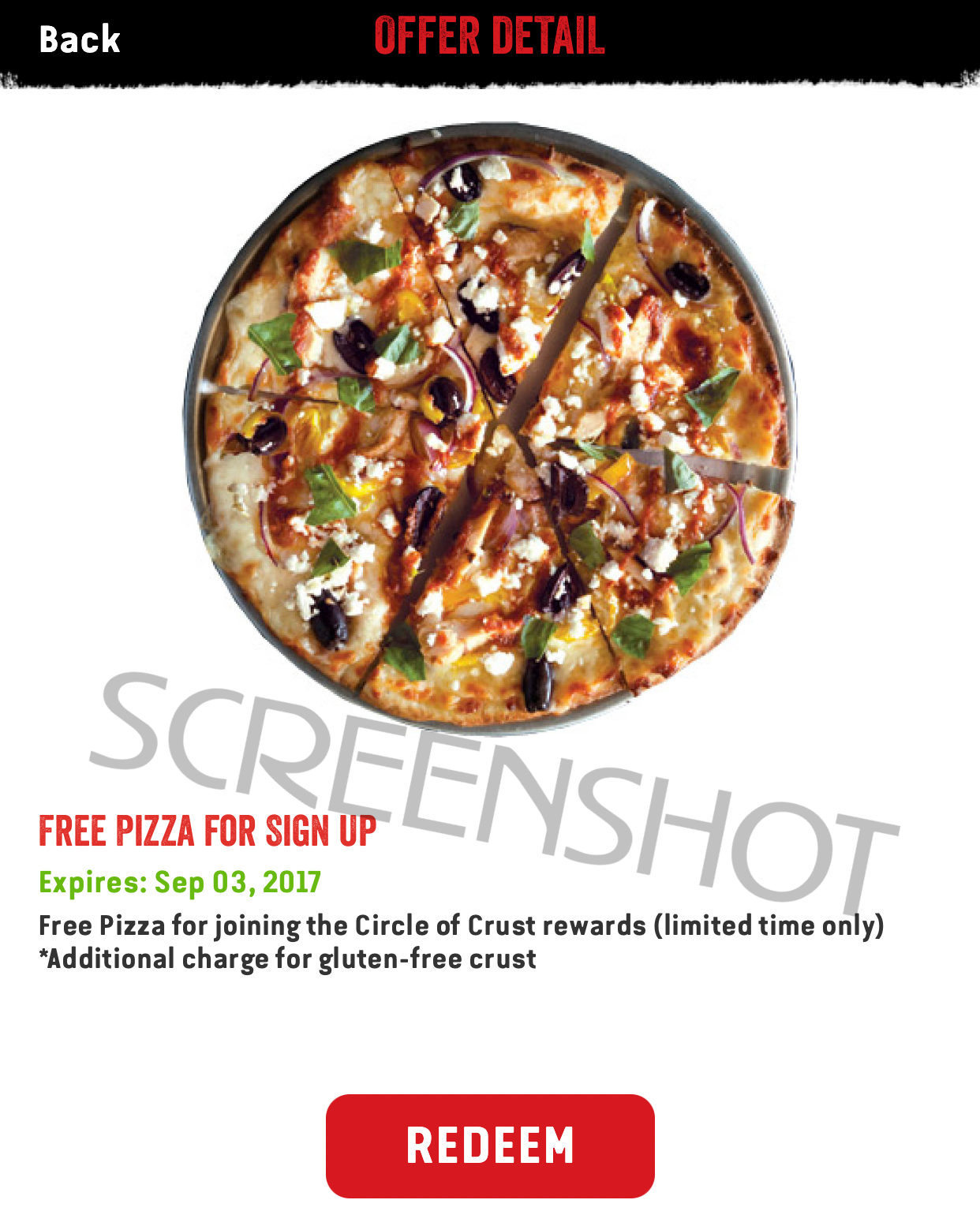 FREE Pizza at Pie Five Pizza