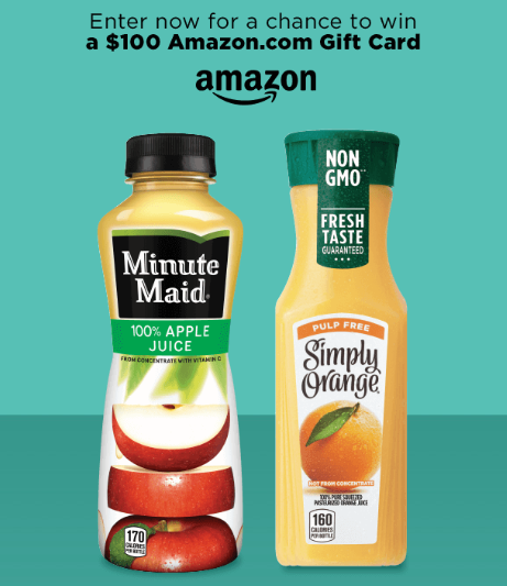 Minute Made and Simply Beverages Sweepstakes