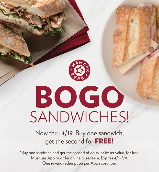 Buy 1 Get 1 FREE Sandwiches