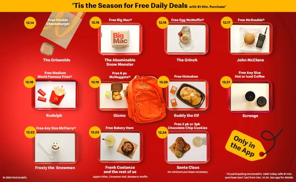 McDonald's 11 Days of Holiday Deals