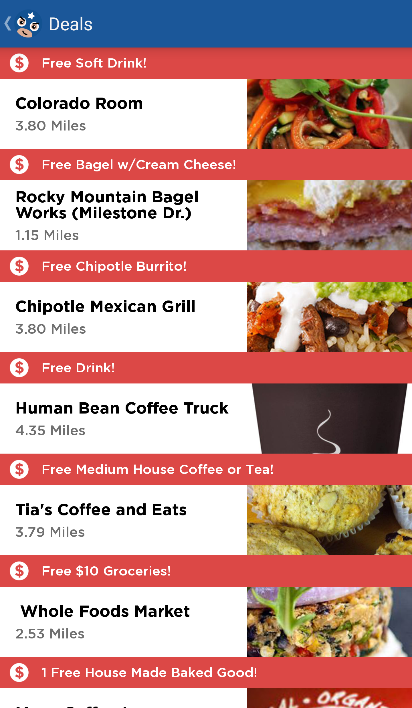 FREE Food & Drinks with Moocho App