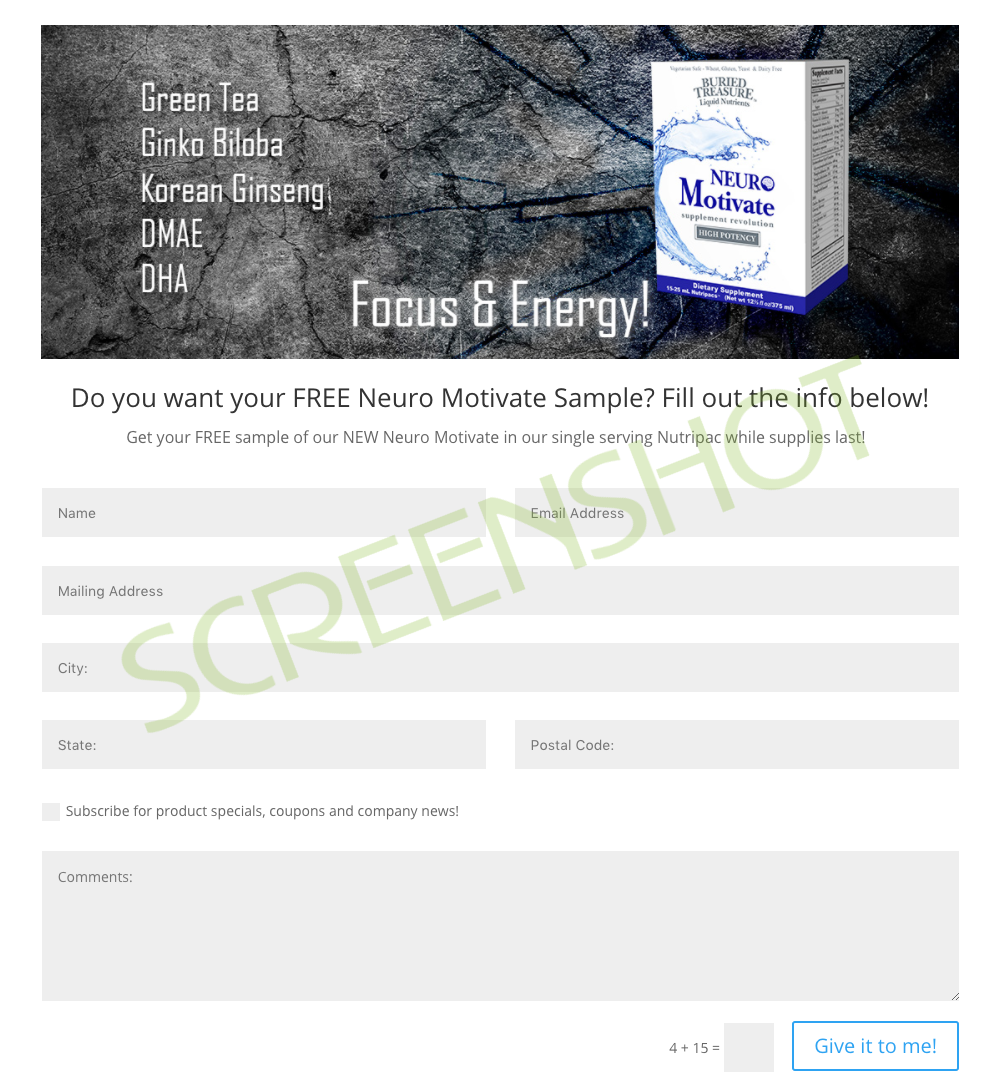 FREE Sample Request Form
