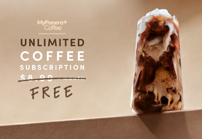 panera unlimited coffee subscription for free