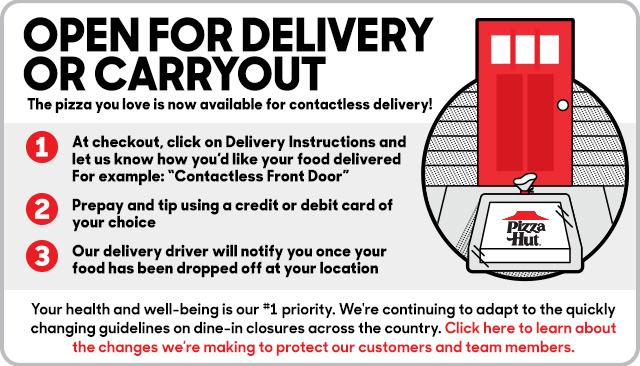 Pizza Hut No Contact Delivery