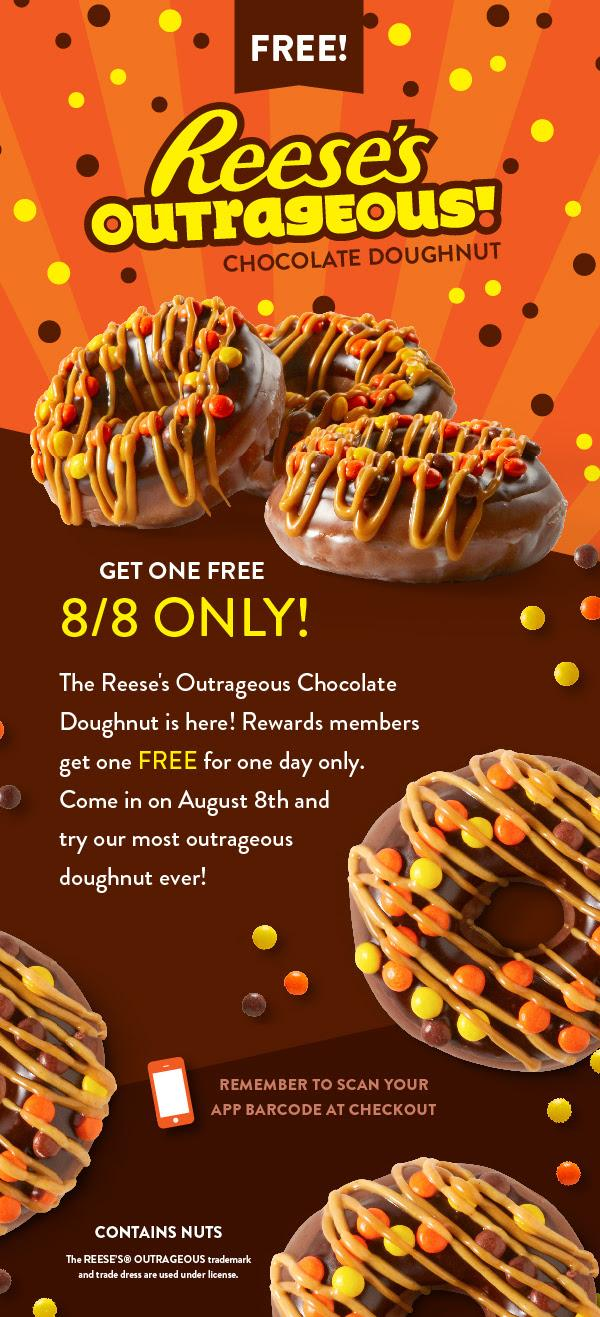 FREE Reese's Outrageous Chocolate Doughnut