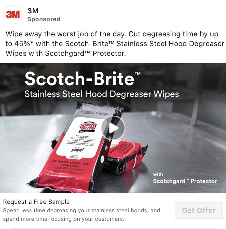 Possible FREE Scotch-Brite Stainless Steel Hood Degreaser Wipes (Facebook Required)