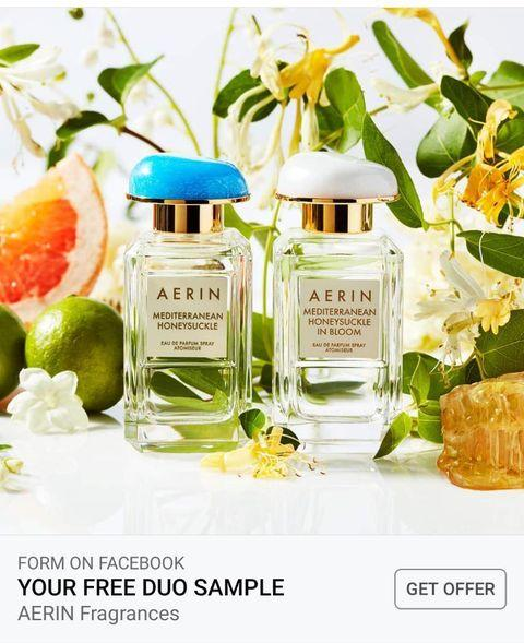 Screenshot of Sponsored Ad for a FREE AERIN Fragrances Duo