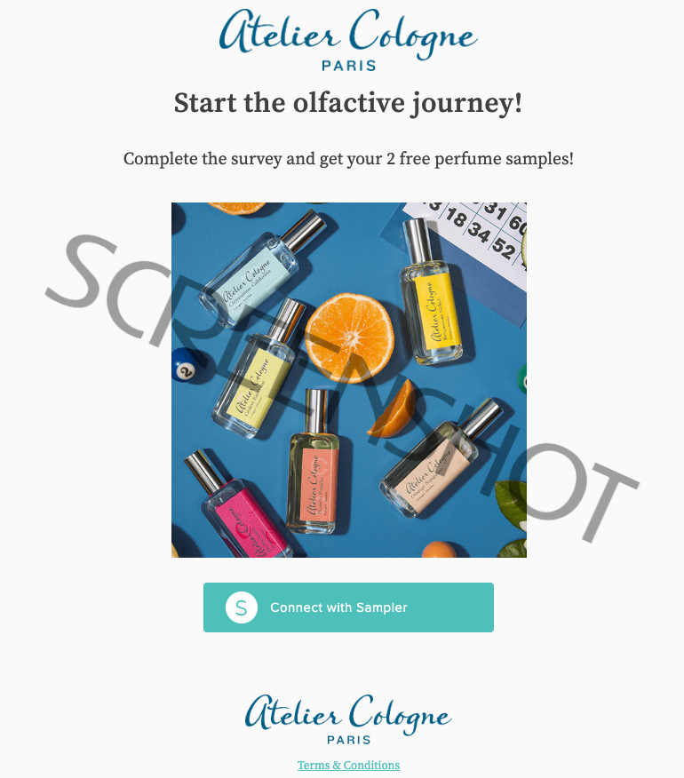 FREE Atelier Cologne Samples via Sampler