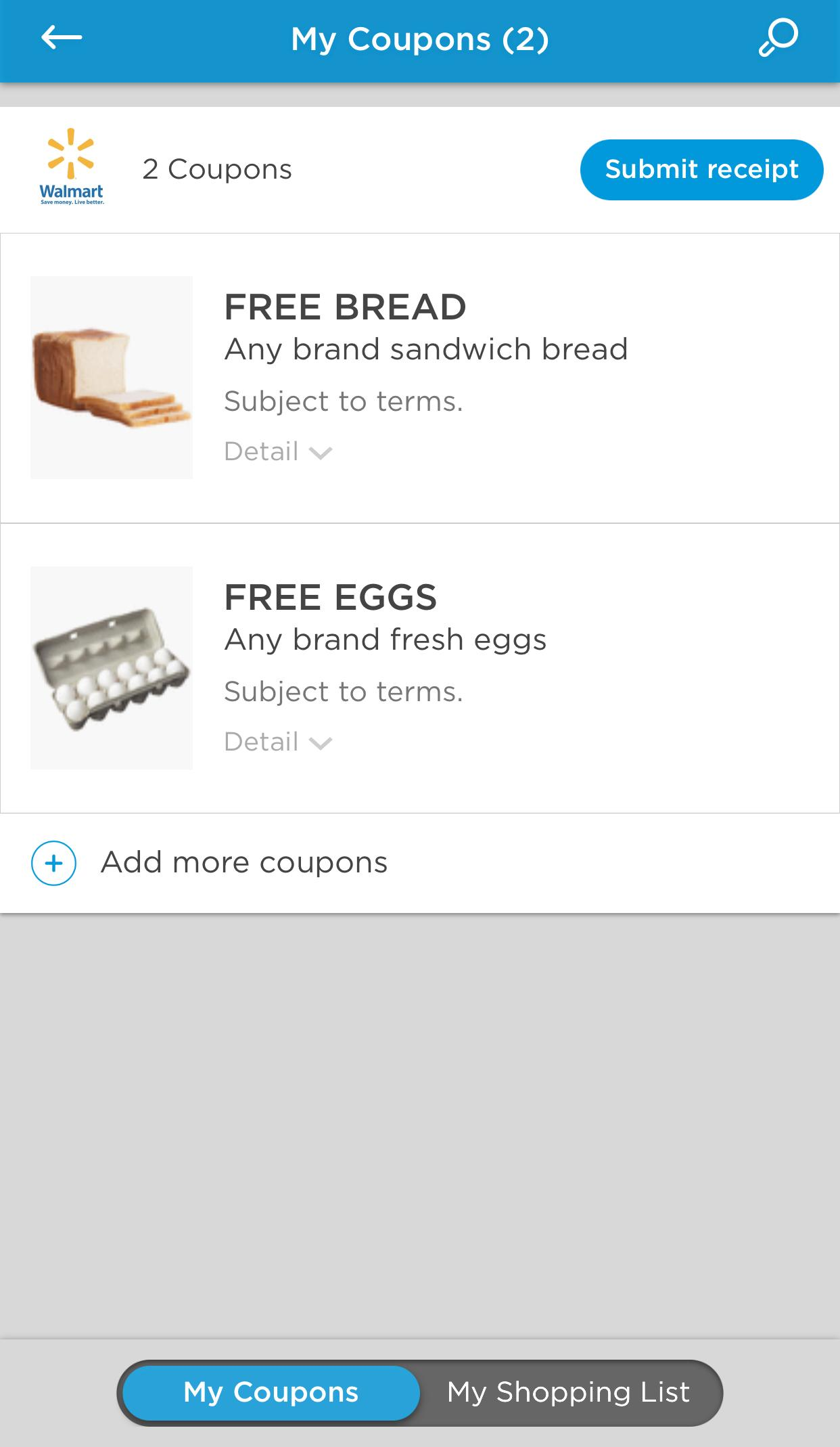 FREE Eggs and Bread after Cashback