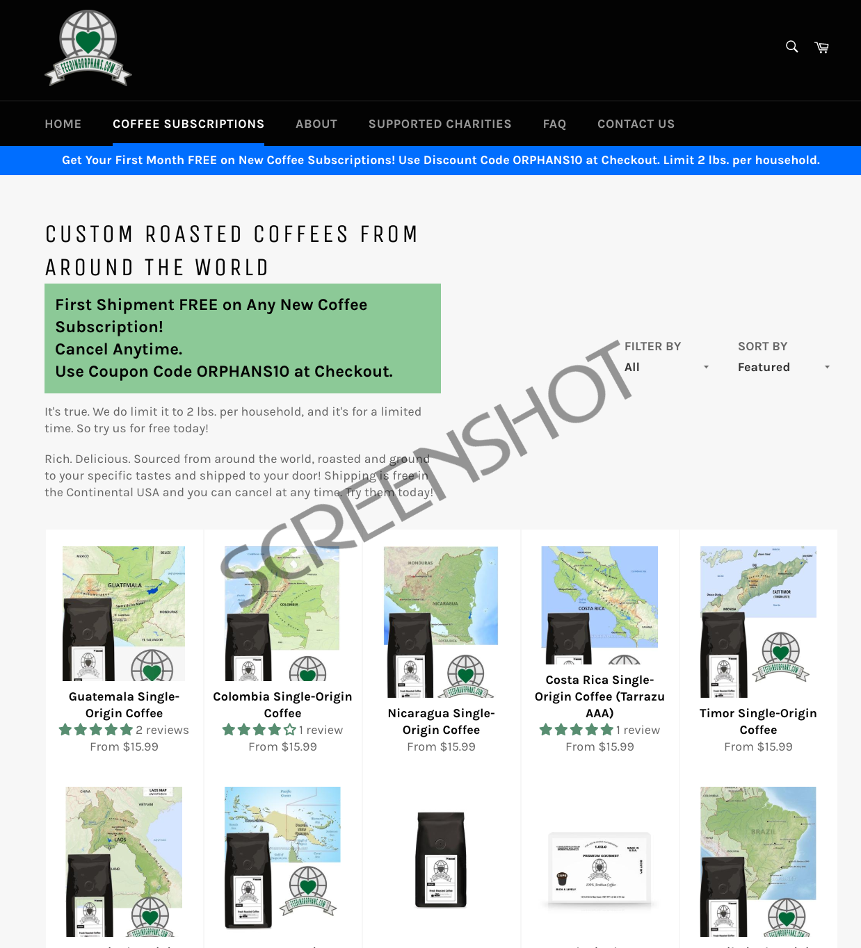 Screenshot of Free Coffee Offer