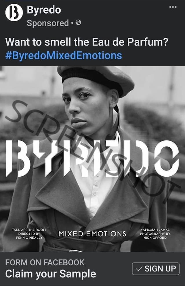 FREE Byredo Mixed Emotions Eau de Parfum Sample