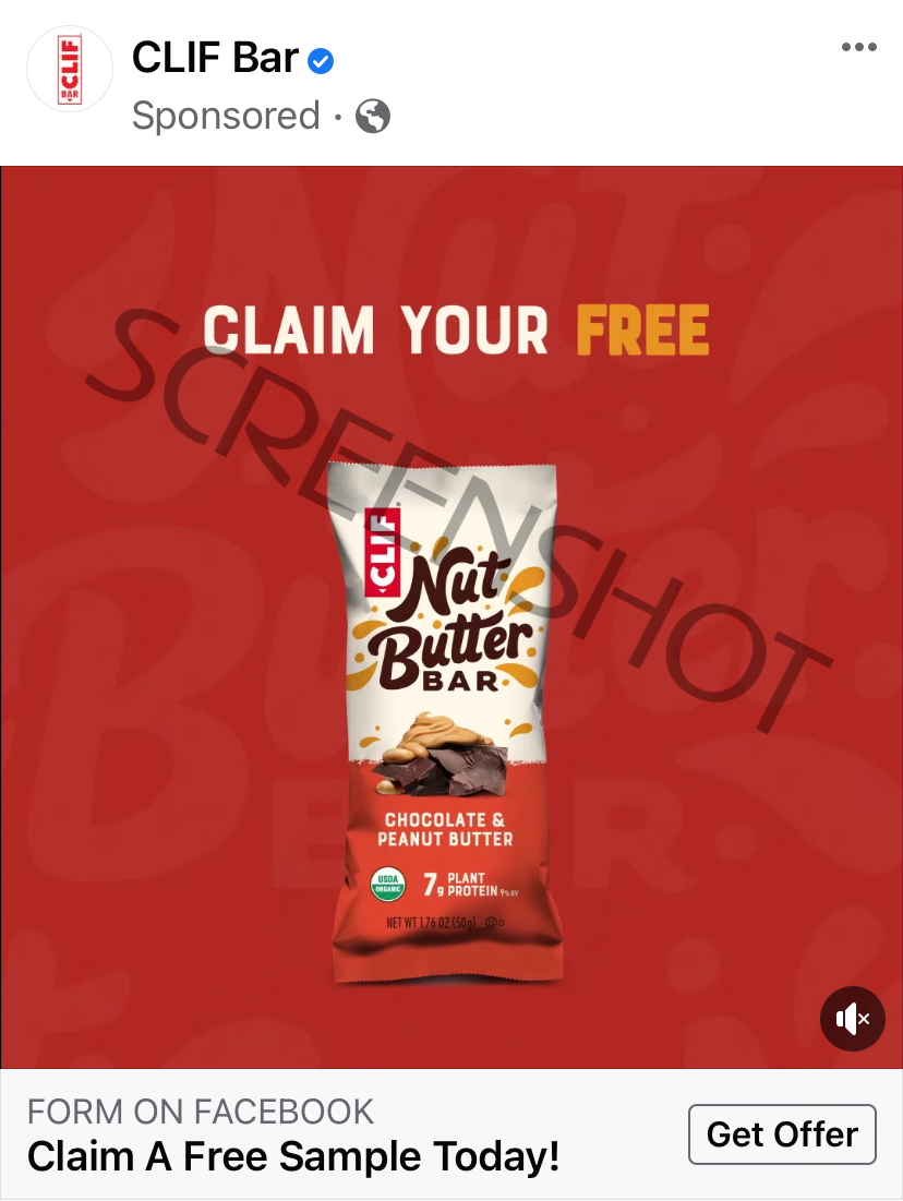 Possible Free CLIF Nut Butter Bar