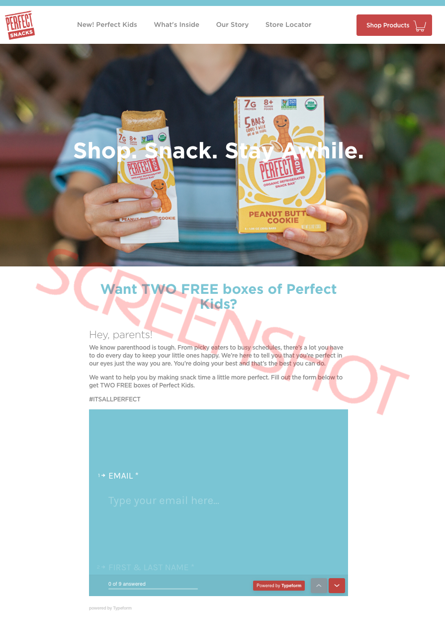FREE Perfect Kids Snack Bars