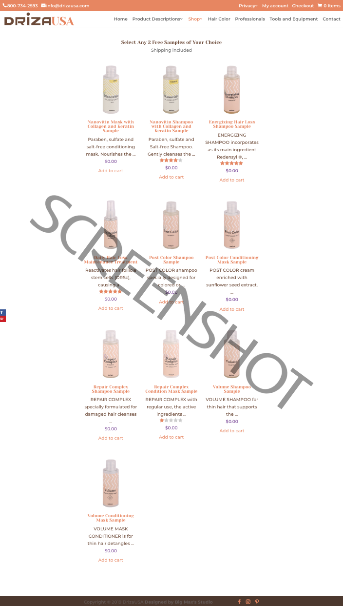 2 FREE Hair Care Product Samples
