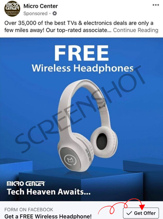 FREE Wireless Headphones at Micro Center Stores