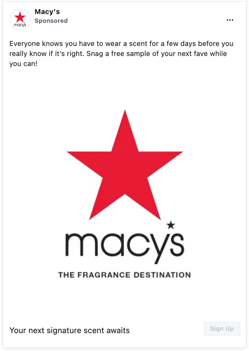 Possible FREE Deluxe Fragrance Samples by Mail from Macy's