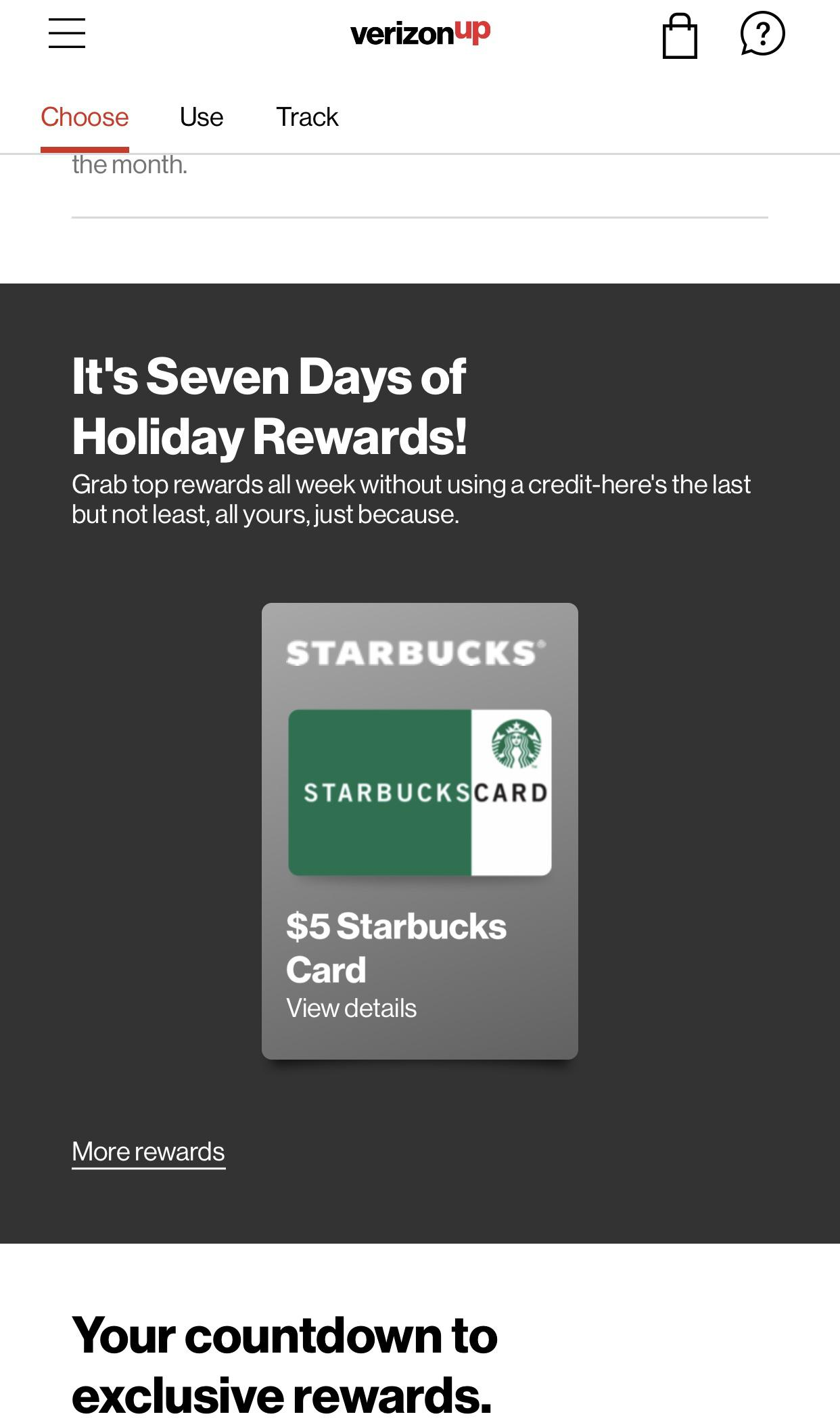 Screenshot of Free Gift Card Offer