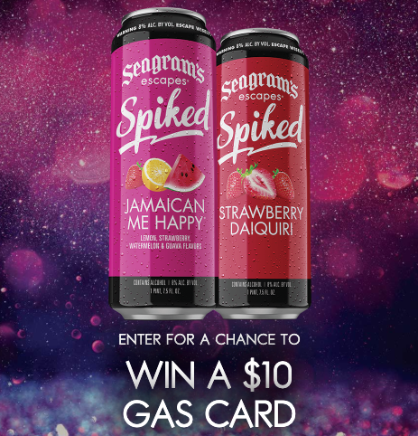 Seagram's Spiked Gas Card National Instant Win