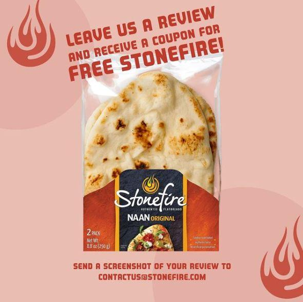 FREE Stonefire Naan Product Coupon by Mail