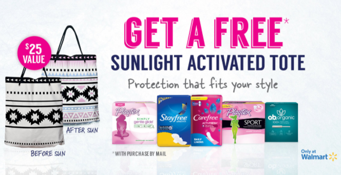 FREE Sunlight Activated Tote with Feminine Product Purchase