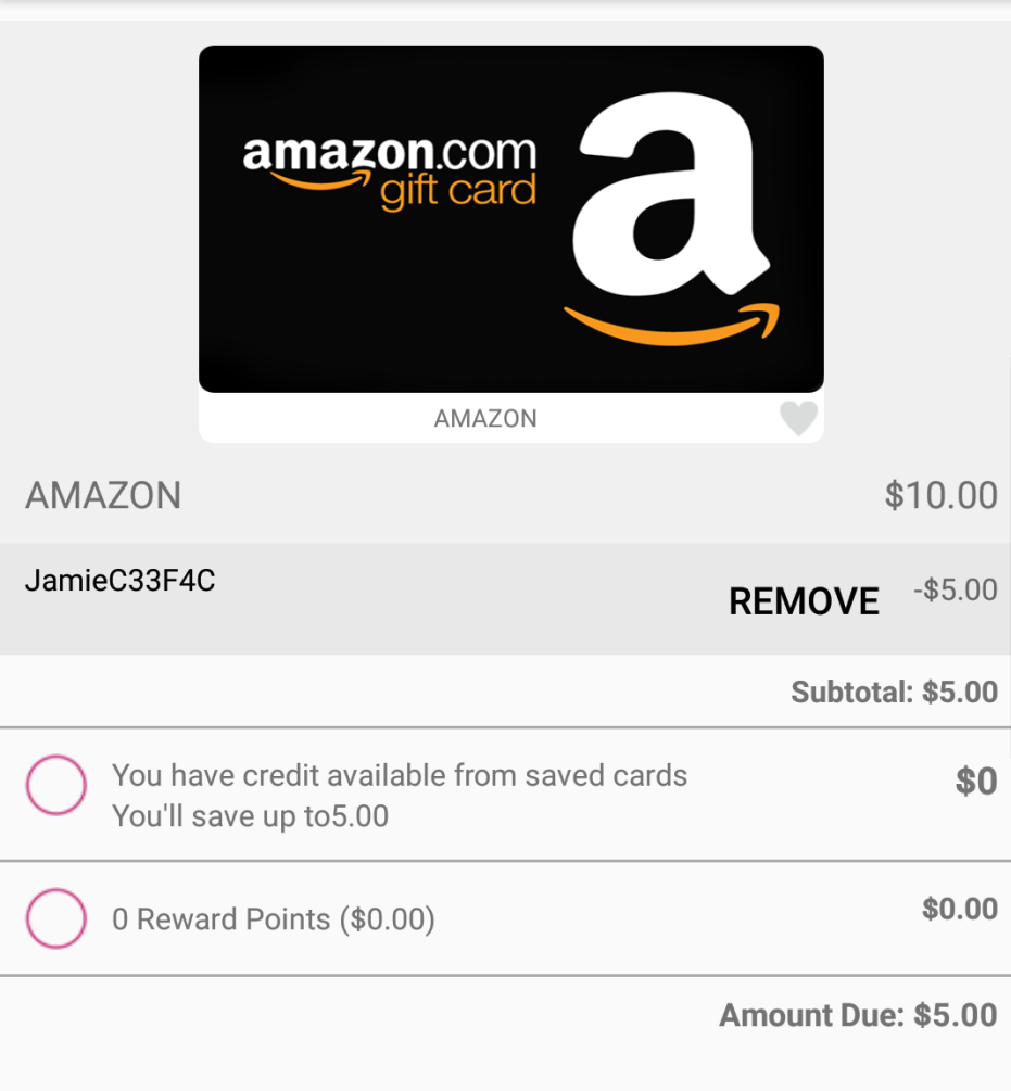 $10 Gift Card of Your Choice for ONLY $5
