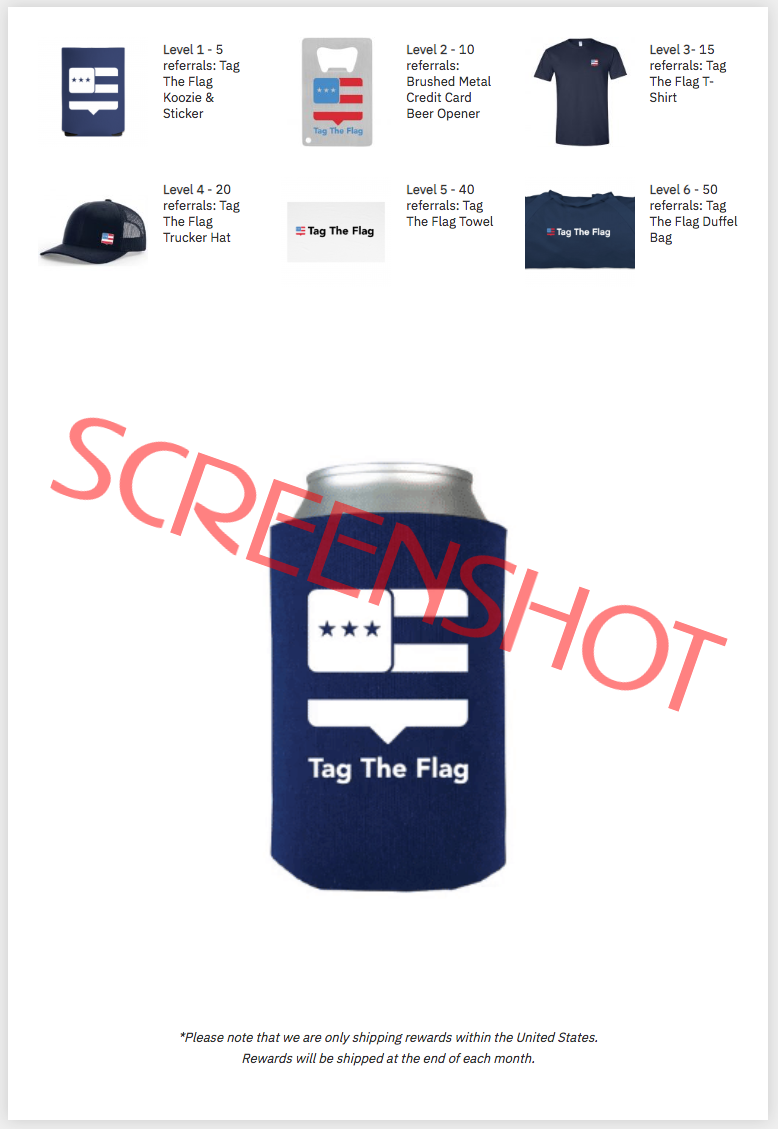 FREE Tag The Flag Gear