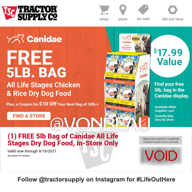 tractor-supply-free-canidae-dog-food