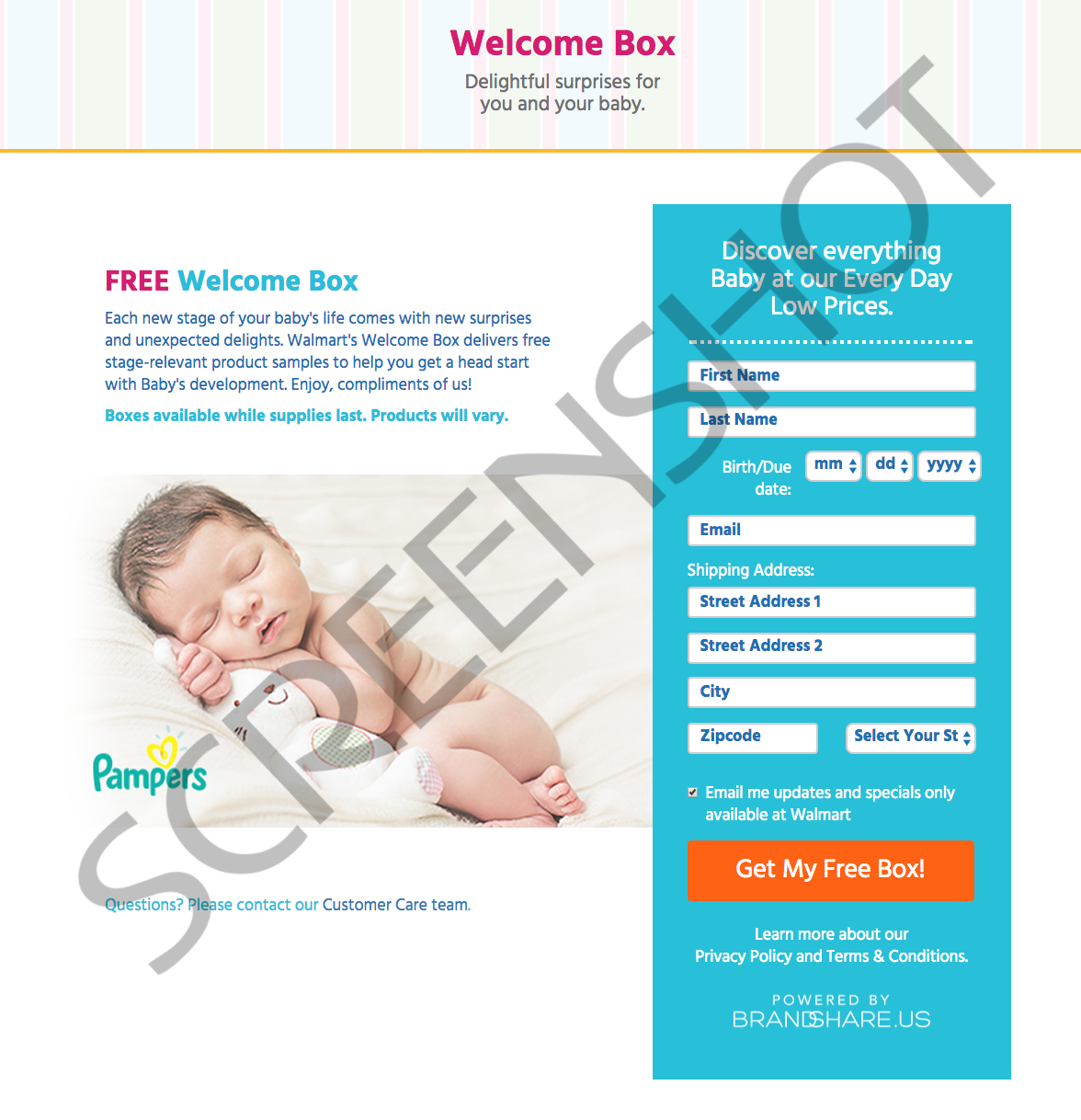 FREE Baby Welcome Box