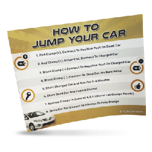 FREE 'How To Jump Your Car' Sticker