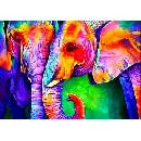 Diamond Painting Colorful Elephant $4.79