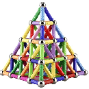 130-Piece Magnetic Building Sticks $15.99