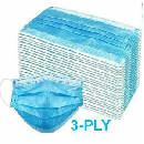 50-Pack 3-Ply Disposable Face Masks $10.98
