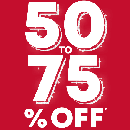 50%-75% OFF Everything
