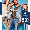 50% Off ALL Jeans for the Family