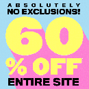 60% off Sitewide + FREE Shipping