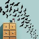 80-Pack of 3D Bats Wall Stickers $3.99