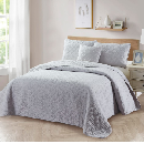 Bibb Home 4 Pc Embroidered Quilt Set $35