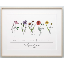 Birth Flower Bunch Prints $11.99
