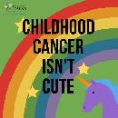 Free 'Childhood Cancer Isn't Cute' Sticker
