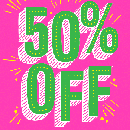 50% off Sitewide + FREE Shipping