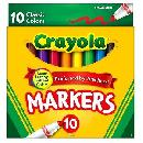 10ct Crayola Markers 99¢ or less